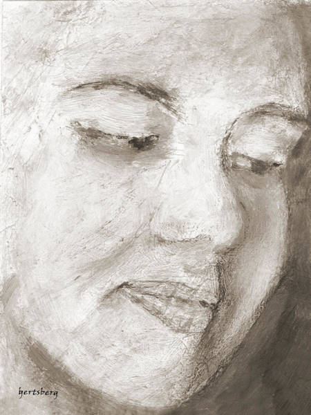 Wall Art - Painting - Portrait Of A Young Woman by Ben Gertsberg