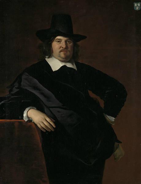 Painting - Portrait Of Abraham De Visscher by Jacob Adriaensz Backer