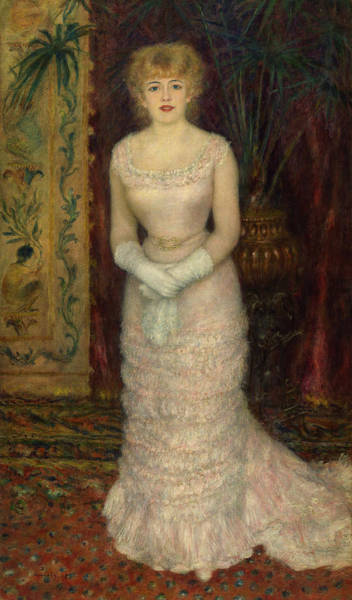 Wall Art - Painting - Portrait Of Actress Jeanne Samary, 1878 by Pierre-Auguste Renoir