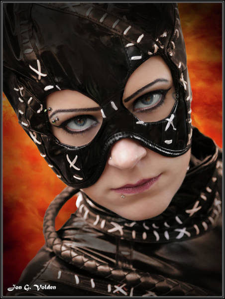 Photograph - Portrait Of An Cat Woman by Jon Volden