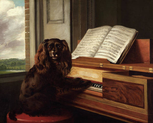 Wall Art - Painting - Portrait Of An Extraordinary Musical Dog, 1805 by Philip Reinagle