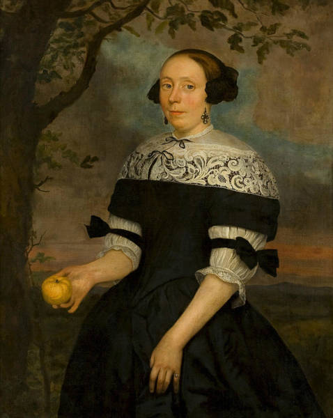 Wall Art - Painting - Portrait Of An Unknown Woman by Hendrick ten Oever