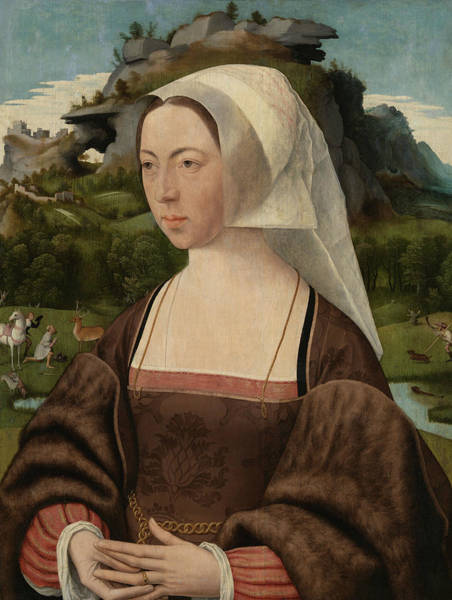 Wall Art - Painting - Portrait Of An Unknown Woman by Jan Mostaert