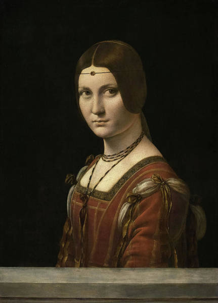 Wall Art - Painting - Portrait Of An Unknown Woman, La Belle Ferronniere, 1496 by Leonardo da Vinci