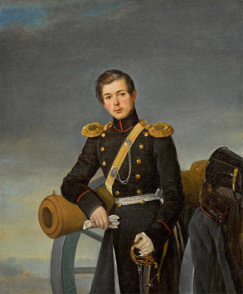 Painting - Portrait Of Andrei Nikolaevich Karamzin by Pimen Nikitich Orlov