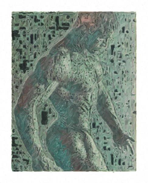 Wall Art - Digital Art - Portrait Of Apollo In Green by Joaquin Abella