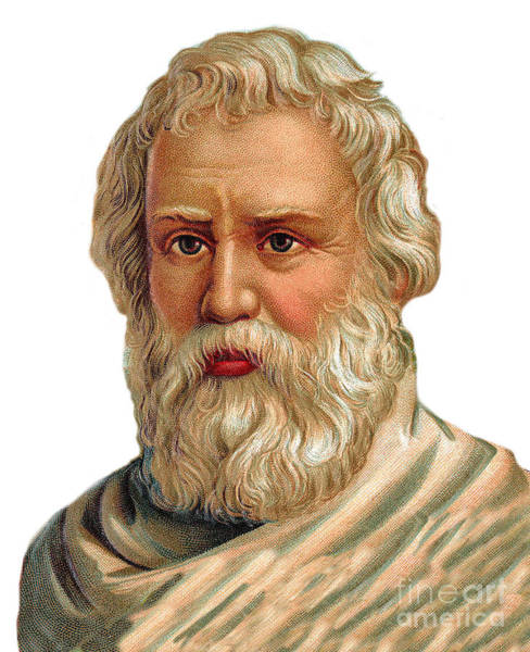Wall Art - Drawing - Portrait Of Archimedes Of Syracuse, Greek Mathematician, Physicist, Engineer, Inventor by Unknown