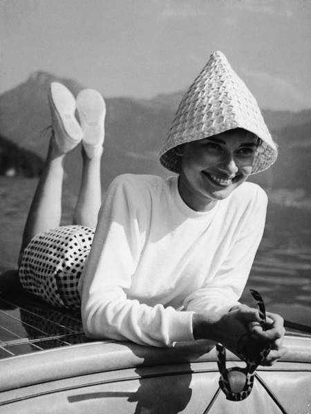Smiling Photograph - Portrait Of Audrey Hepburn by Pictorial Parade