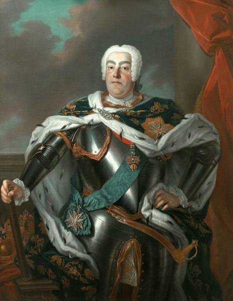 Poland Painting - Portrait Of Augustus IIi Of Poland by Louis de Silvestre