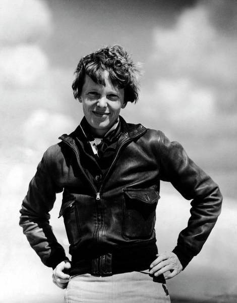 Heroine Photograph - Portrait Of Aviatrix Amelia Earhart by Pictures Inc.