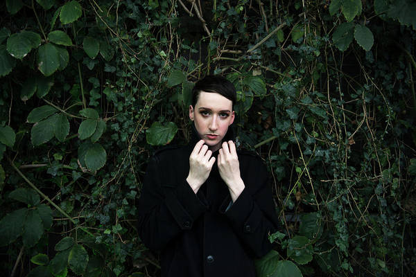 Make Up Photograph - Portrait Of Beautiful Androgynous Young by David Levingstone