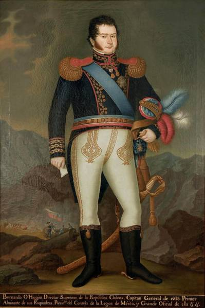 Flag Of Chile Wall Art - Painting - Portrait Of Bernardo O'higgins -1776-1842- - Chilean General And Politician - 19th Century. by Jose Gil de Castro -1785-c 1841-