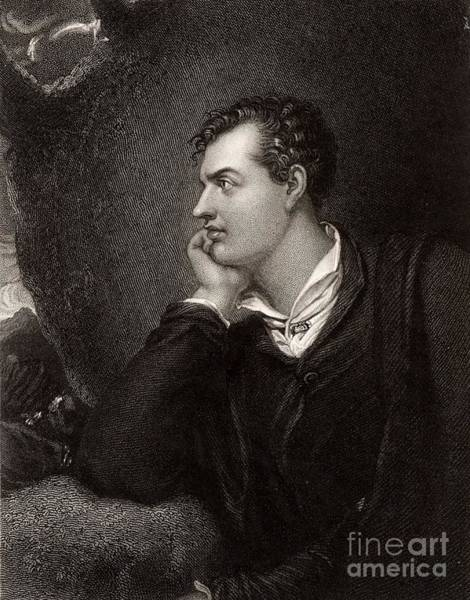 Wall Art - Drawing - Portrait Of Byron by Unknown