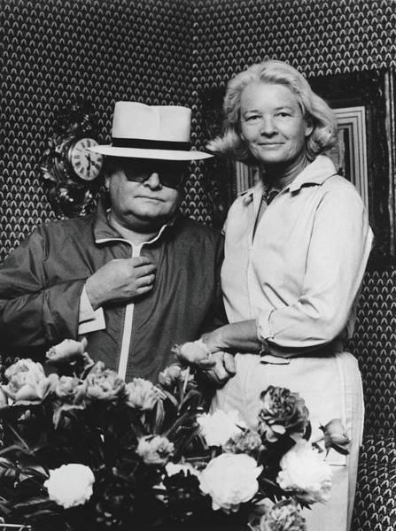 Guest Photograph - Portrait Of Capote & Guest by Bert Morgan