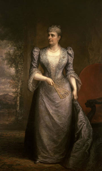 Painting - Portrait Of Caroline Scott Harrison by Daniel Huntington