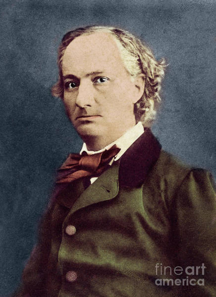 Wall Art - Photograph - Portrait Of Charles Baudelaire By Felix Nadar by Felix Nadar