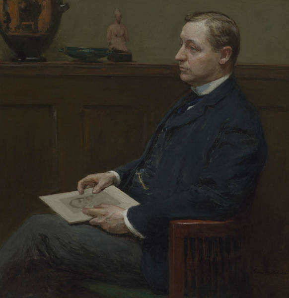 Wall Art - Painting - Portrait Of Charles Lawrence Hutchinson by Gari Melchers