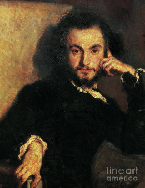 Wall Art - Painting - Portrait Of Charles Pierre Baudelaire By Emile Isidore Deroy by Emile Isidore Deroy