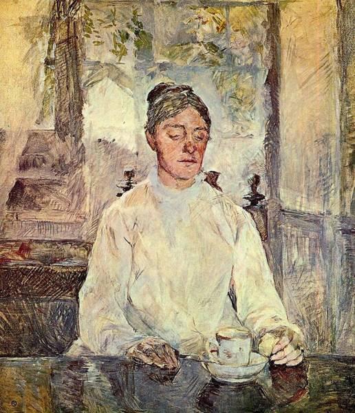 Adele Painting - Portrait Of Comtesse Adele-zoe De Toulouse-lautrec The Artist Mother - 1883 - Pc - Drawing by Henri de Toulouse-Lautrec
