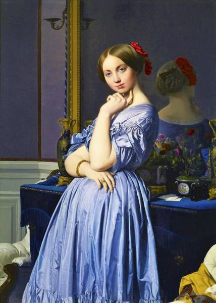 Wall Art - Painting - Portrait Of Comtesse D'haussonville - Digital Remastered Edition by Dominique Ingres
