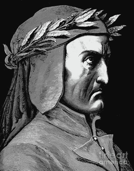Wall Art - Drawing - Portrait Of Dante Alighieri by Gustave Dore