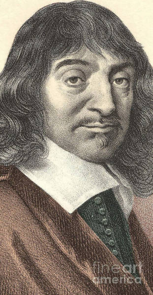 Wall Art - Drawing - Portrait Of Descartes 1596 - 1650 by European School