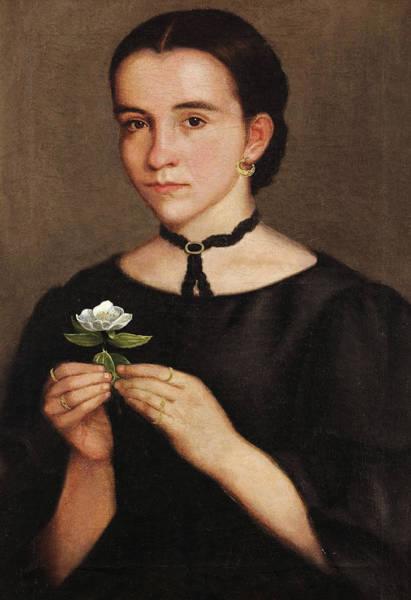 Photograph - Portrait Of Dolores Hoyos by Hermenegildo Bustos