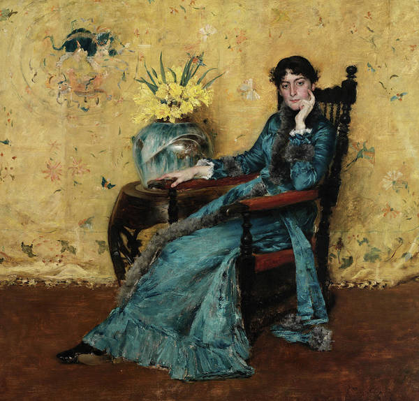 Wall Art - Painting - Portrait Of Dora Wheeler, 1883 by William Merritt Chase