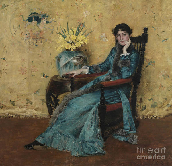 Wall Art - Painting - Portrait Of Dora Wheeler by William Merritt Chase