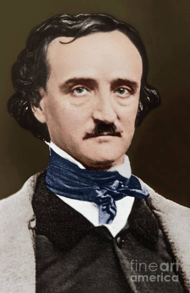 Wall Art - Photograph - Portrait Of Edgar Allan Poe, Circa 1849 by Sarah Ellen Whitman