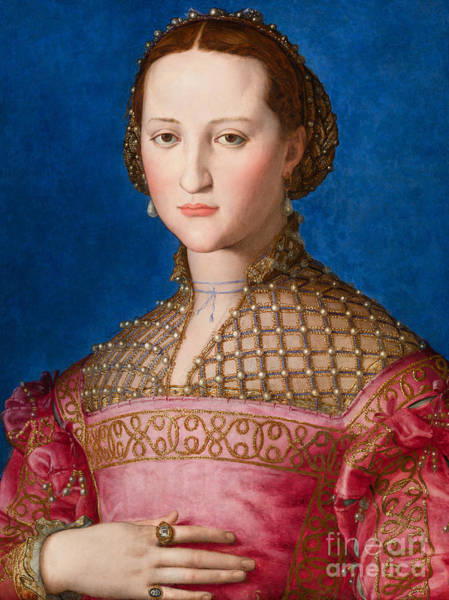 Wall Art - Painting - Portrait Of Eleanor Of Toledo by Agnolo Bronzino