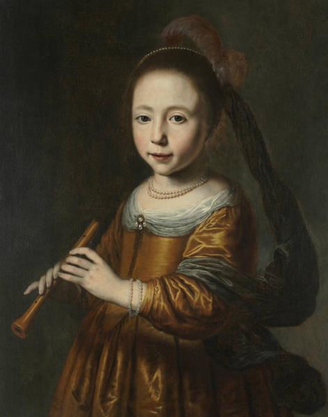 Painting - Portrait Of Elizabeth Spiegel by Dirck van Santvoort