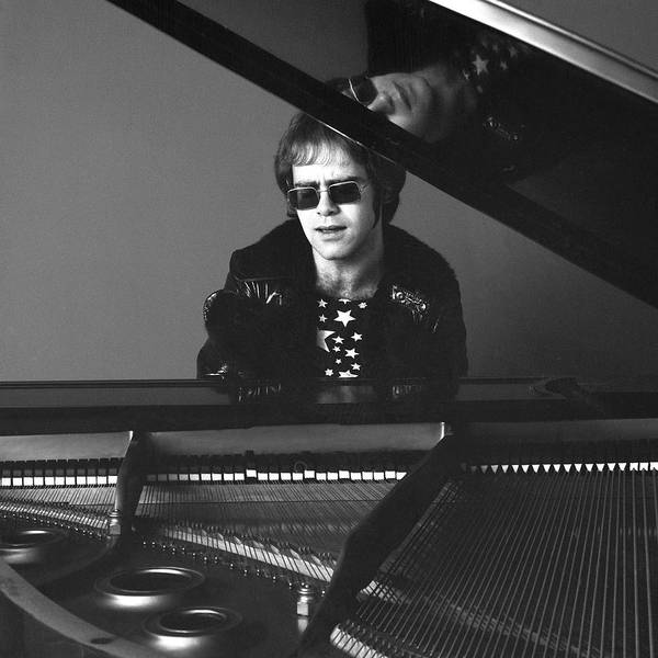 Square Photograph - Portrait Of Elton John by Jack Robinson