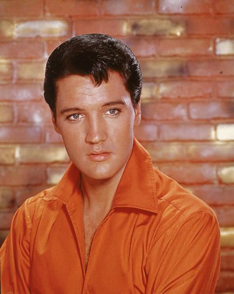 Photograph - Portrait Of Elvis by Hulton Archive