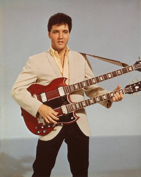 Photograph - Portrait Of Elvis Presley by Hulton Archive