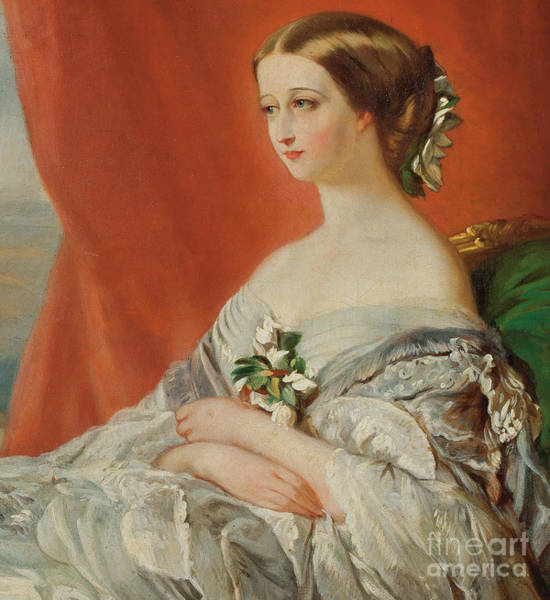 Wall Art - Painting - Portrait Of Empress Eugenie By  by Franz Xaver Winterhalter