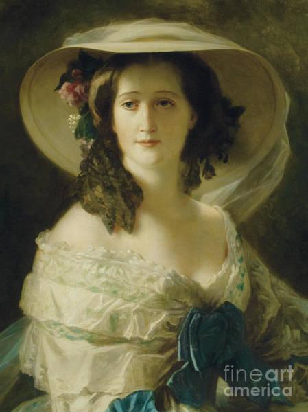 Franz Painting - Portrait Of Empress Eugenie  by Franz Xaver Winterhalter