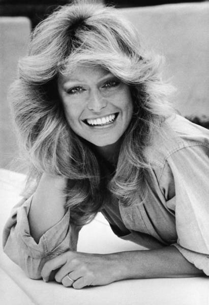 Hairstyle Photograph - Portrait Of Farrah Fawcett by Hulton Archive
