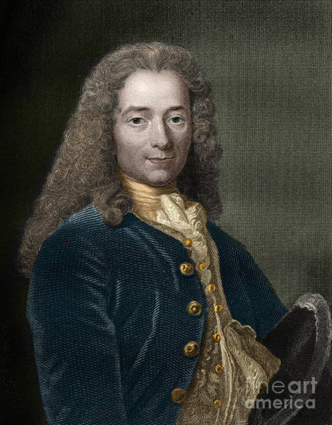 Wall Art - Painting - Portrait Of Francois-marie Arouet, Aka Voltaire by French School