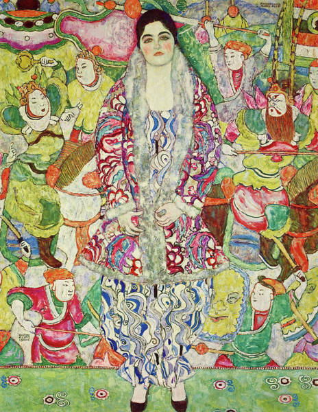 Wall Art - Painting - Portrait Of Friederike Maria Beer, 1916 by Gustav Klimt