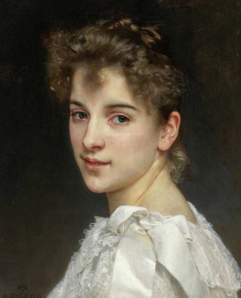 Wall Art - Painting - Portrait Of Gabrielle Cot, 19th Century by William-Adolphe Bouguereau