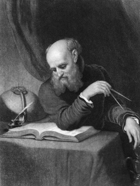 Pencil Drawing Photograph - Portrait Of Galileo by Kean Collection