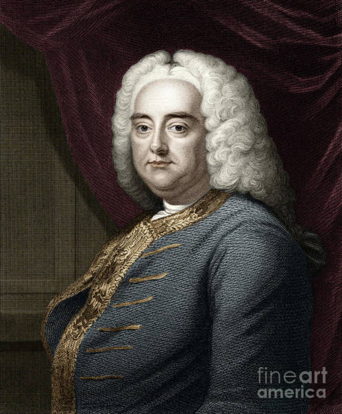 Wall Art - Drawing - Portrait Of George Frederick Handel by Unknown
