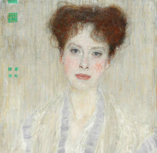 Wall Art - Painting - Portrait Of Gerta Loew, Detail by Gustav Klimt