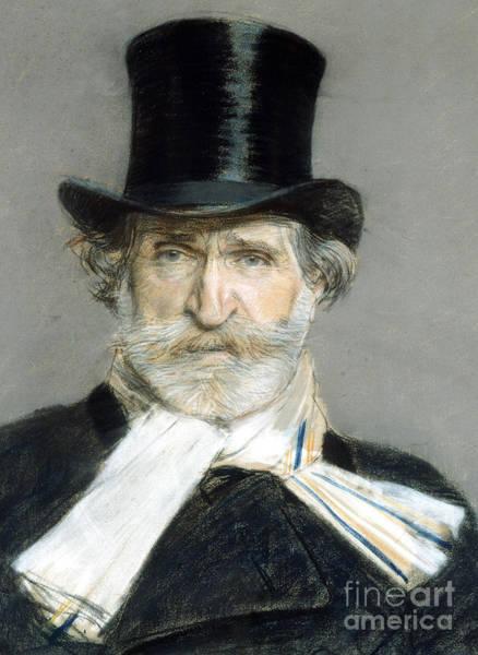 Wall Art - Painting - Portrait Of Giuseppe Verdi In 1886 by Giuseppe Boldini