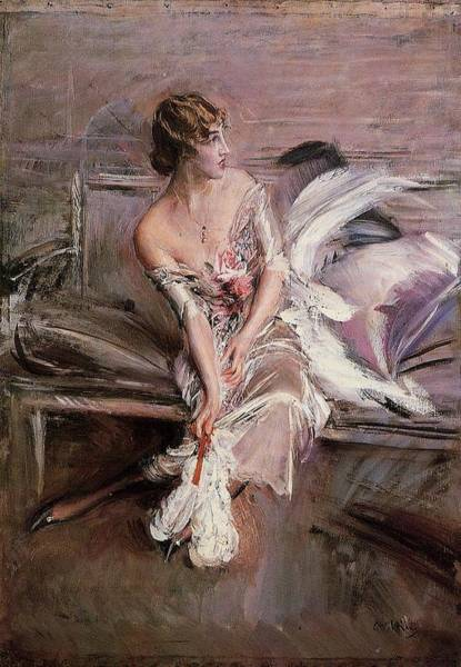 Wall Art - Painting - Portrait Of Gladys Deacon, 1905-08 by Giovanni Boldini