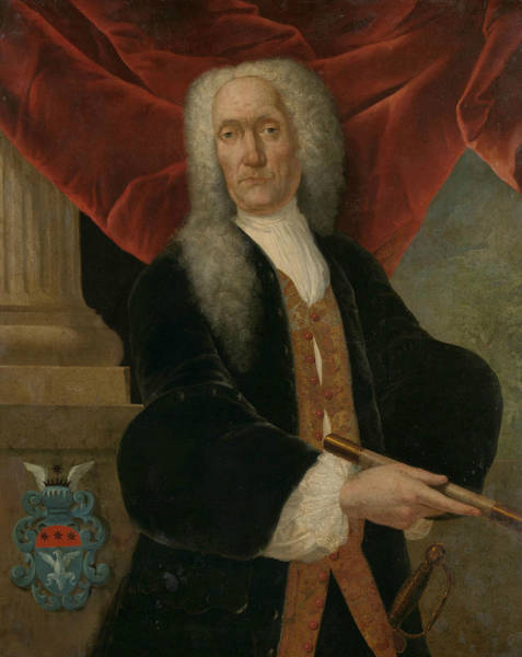 Painting - Portrait Of Governor-general Abraham Patras by Theodorus Justinus Rheen
