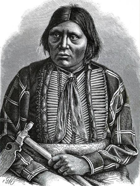 Wall Art - Photograph - Portrait Of Grey Eagle, An Apache by Uig