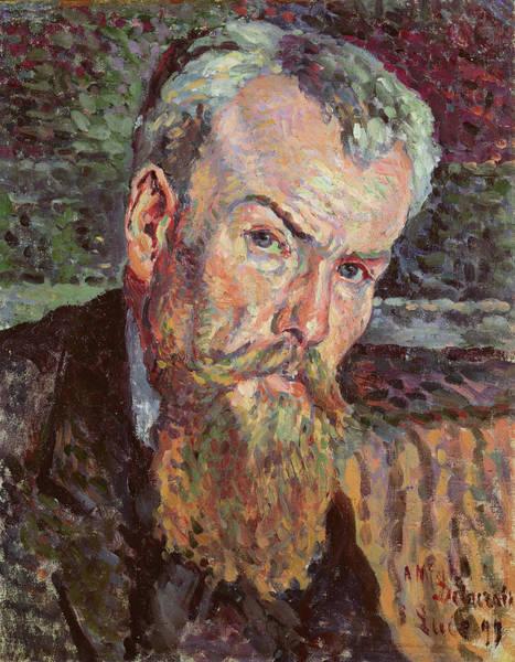 Wall Art - Painting - Portrait Of Henri Edmond Cross by Maximilien Luce