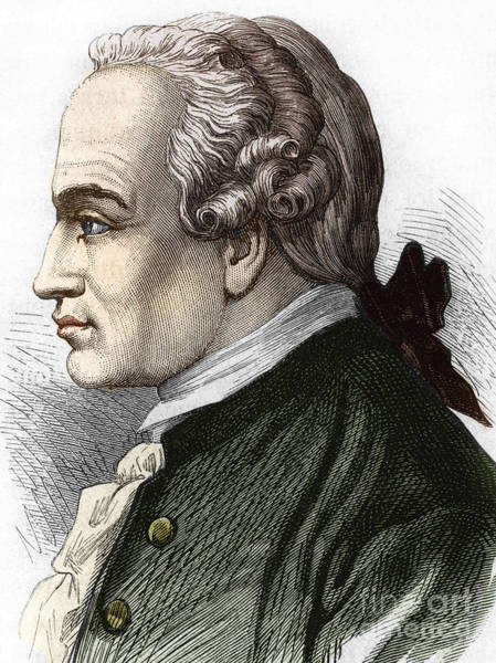 Wall Art - Drawing - Portrait Of Immanuel Or Emmanuel Kant, German Philosopher by German School